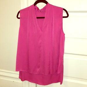 Elie Tahari Judith Sleeveless Pink Blouse